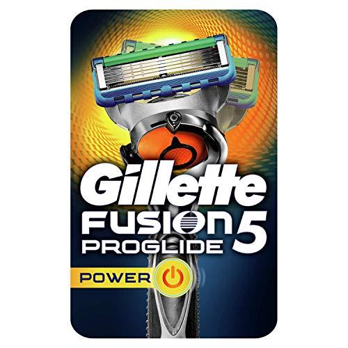 Gillette Fusion 5 ProGlide Power Rasierer Herren mit Trimmer für Präzision und Gleitbeschichtung, Rasierer + 1 Rasierklinge