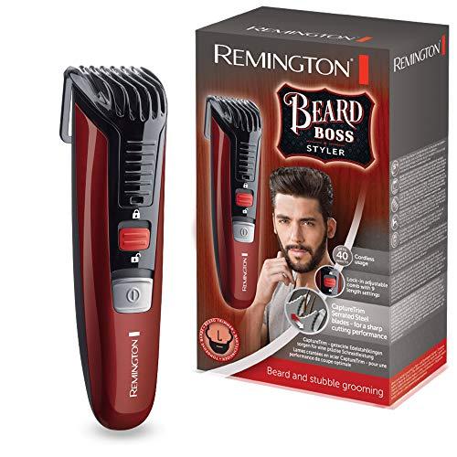 Remington Barttrimmer Herren MB4125 (hochwertige Edelstahlklingen, Akkubetrieb, 11 Längeneinstellungen für verschiedene Bartstyles) Bartschneider